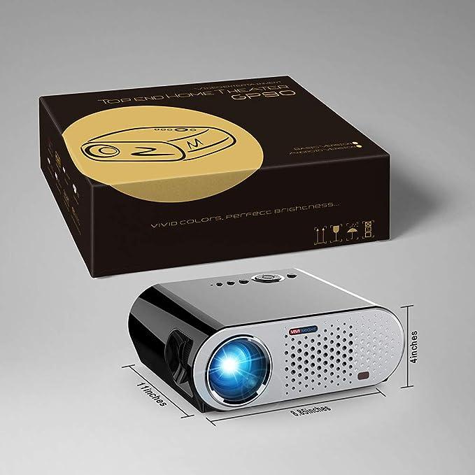 JHSHENGSHI 3500 Lumen Mini Portátil Video Proyector para Cine en ...