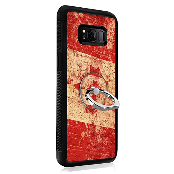 outlet store 2c94e e3b54 Amazon.com: Retro Canada Flag Samsung Galaxy S8 Case with Ring ...