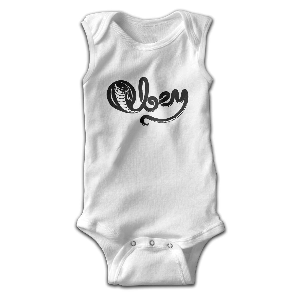Efbj Toddler Baby Boys Rompers Sleeveless Cotton Onesie,Snake Black Logo Bodysuit Autumn Pajamas