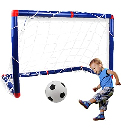 Football Goal Set Indoor Soccer Goal Set Football Soccer Ball Goal Post Net Set Kids Soccer Goal Toy for Outdoor Backyard: Sports & Outdoors