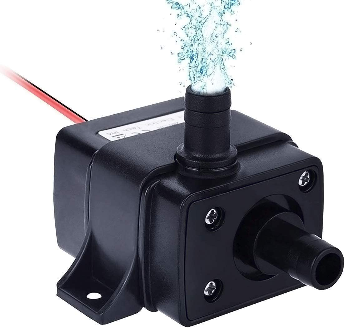 Allnice Mini Submersible Water Pump(240L/H, 4.8W) 12v Electric Brushless Submersible Fountain Pump with 9.8ft High Lift Outdoor Water Pump with 1.4ft Power Cord for Aquarium, Pond, Hydroponics