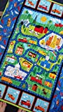Cars and Trucks Quilt, Trucks and Cars Playmat, Trucks Crib Quilt, Vehicle Nursery, Vehicle Crib, Transportation Crib, Boy Crib Bedding, Airplane, Train, Vehicles, Car Toddler Birthday Present