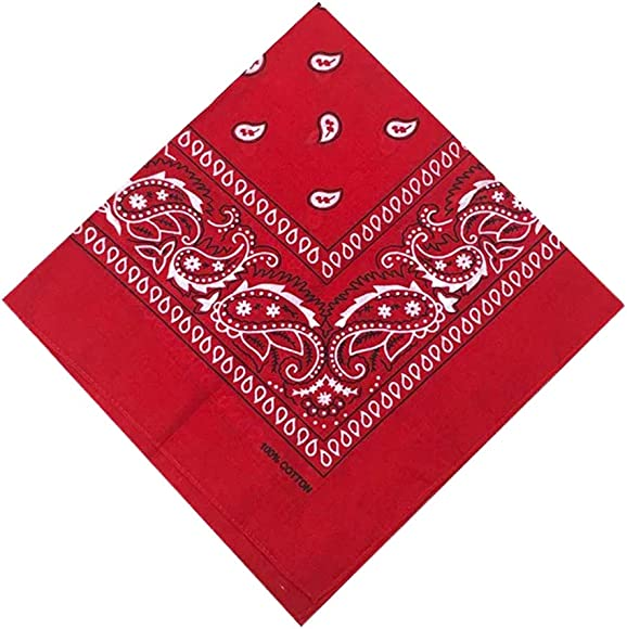 ledermodefashion Unifarben Bandana Tuch versch Farben 100/% Baumwolle Kopftuch Halstuch Rot