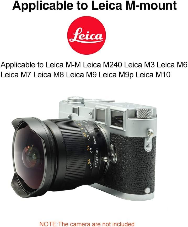 Leica M240 Leica M10 with Caden Lens Pouch Bag Leica M8 Leica M9 Leica M7 Leica M3 Leica M6 TTArtisan 11mm F2.8 Ultra-Wide Fisheye Manual Cameras Lens for Leica M-M Leica M9p