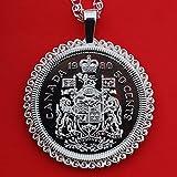 Canada 1980 Specimen Proof Unc 50 Cent Piece Canadian Half Dollar 925 Sterling Silver Necklace