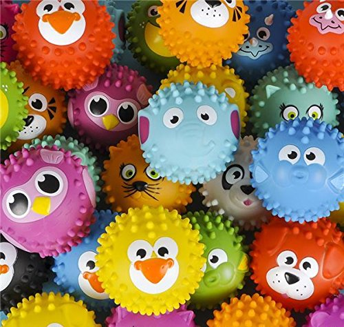 144PC 5'' KNOBBY ANIMAL BALL ASSORTMENT, Case of 1 by DollarItemDirect