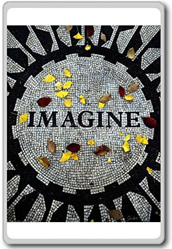 Imagine John Lennon Memorial Central Park New York - Motivational Quotes Fridge Magnet