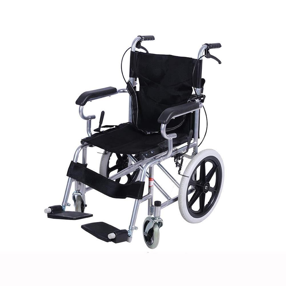 激安大特価! QIDI 車椅子 折りたたみ 軽量 搭乗可能 軽量 アームレスト B07MKKJRX7 ソリッドタイヤ (色 輸送 ポータブル アルミニウム合金 子 長老 (色 : 黒) 黒 B07MKKJRX7, 質みなみ:8b2c17b4 --- a0267596.xsph.ru