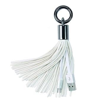 Xutu Llavero Cable de carga USB Cable de la borla de cuero ...