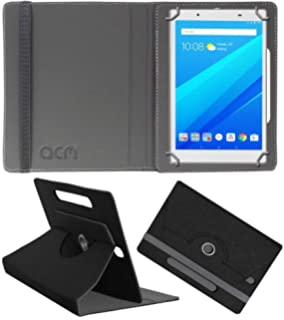 Acm Designer Rotating Leather Flip Case for Lenovo Tab 4 8 Plus Tablet Cover  Stand Black