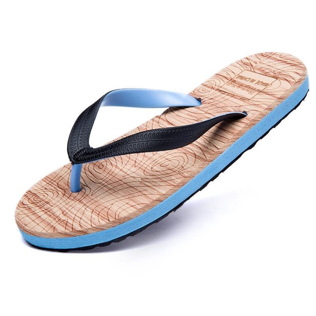 30db41b1fca37c Yingniao Men s Lightweight Flexible Slippers and Comfort Thong Sandals  Shoes Flip Flops Blue 44  Amazon.co.uk  Shoes   Bags