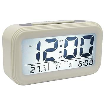 COOJA Reloj Despertador Digital Pilas, Alarma Despertador con Luz Snooze Numeros Grandes Temperatura, Despertadores para Niños Despertador Electronico de ...