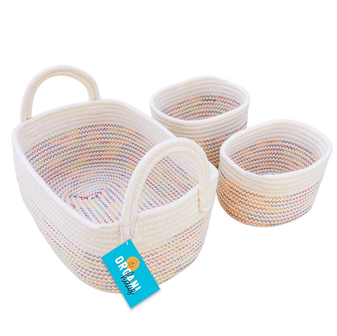 Rainbow Rope Baskets
