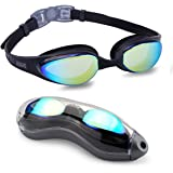 Aegend Swim Goggles, Swimming Goggles With Streamline Design - Soft Nose Piece - Premium UV Protection Anti-Fog and 180 Degree Vision, Triathlon Goggles for Adult Men Women Youth 5 choices