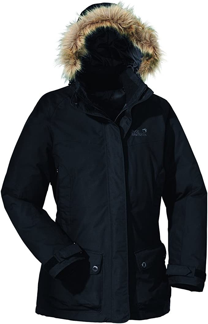 Jack Wolfskin Damen ANCHORAGE PARKA WOMEN XS black: Amazon