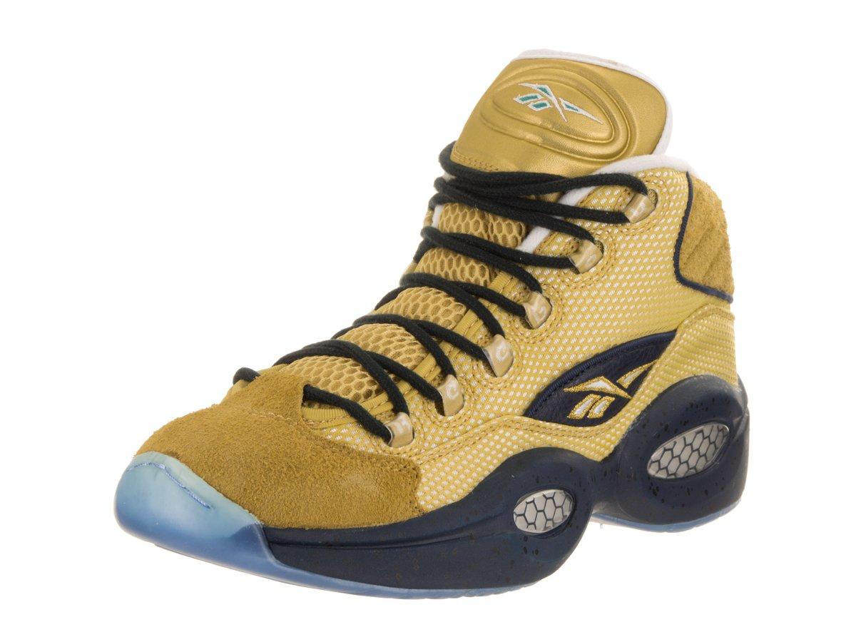 Reebok Men's Question Mid EBC Basketball Shoe B01KKFTNMK 9.5 D(M) US Matte Gold/Navy/Wht/Green