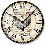 Item C5006 Vintage Style Country French Chicken Clock (12 Inch Diameter)