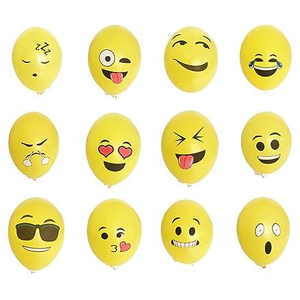 Favoloso Yizhet 100 pezzi diversi palloni Emoji palloncini colorati misti  MR82