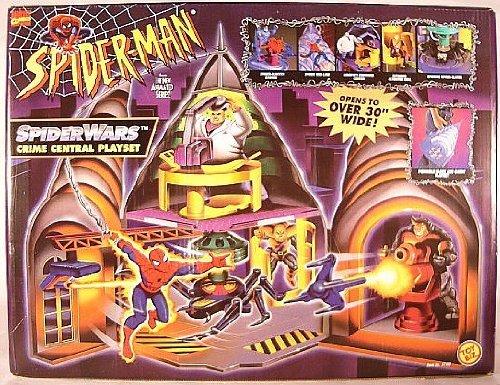 Spider-Man Spider-Wars Crime Central Playset Toy Biz