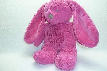 Conejo de peluche de color rosa fuxia TEX Baby Carrefour CMI Nicotoy 35 cm