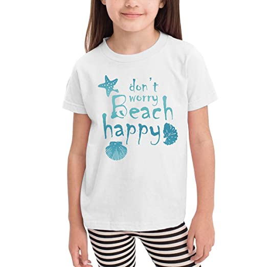dc59974bd230 Amazon.com: Sakanpo Dont Worry-Beach Happy Toddler Short Sleeve T ...