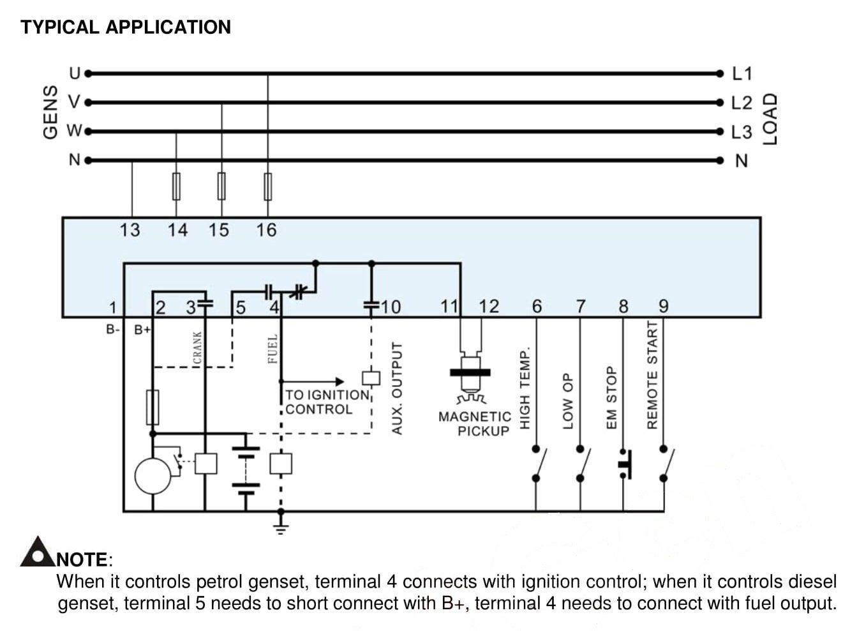 Smartgen Mgc100 Manual Remote Start Generator Controller Access 4000 Control Panel Wiring Diagram Module Industrial Scientific