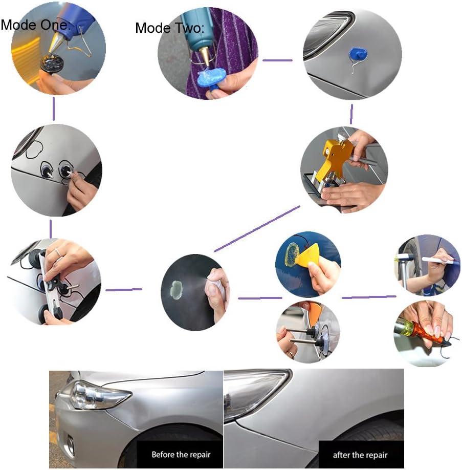 colore giallo-hot melt glue stick PDR Paintless Tools-Set di utensili per la riparazione di ammaccature altezza: 295 mm Weylon Set 5 Weylon 11 mm alta qualit/à