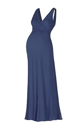 4e7d50988a786 Beachcoco Women's Maternity Sleeveless V Neck Maxi Dress Made in USA ...