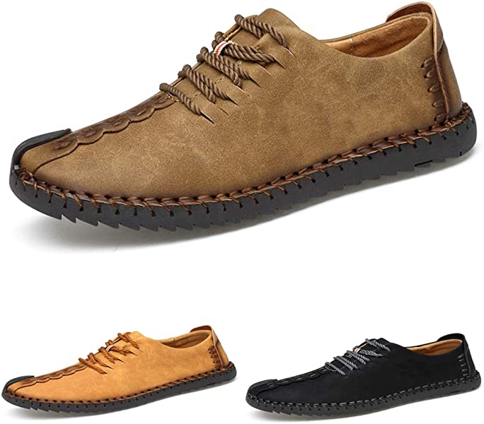 35f48c265f3 Men s Suede Casual Shoes Leather Oxford Shoes British Style Handmade Lace  up Loafers Flats Sneakers Black