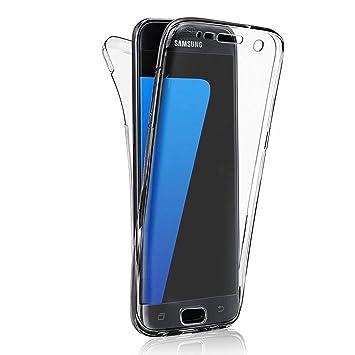 Galaxy S8 Plus Carcasas y Fundas Completo TPU Gel Frontal Trasera Case Cover Sunroyal Samsung S8+ Ultra Fina 360 Silicona Delantera + Trasera Doble ...