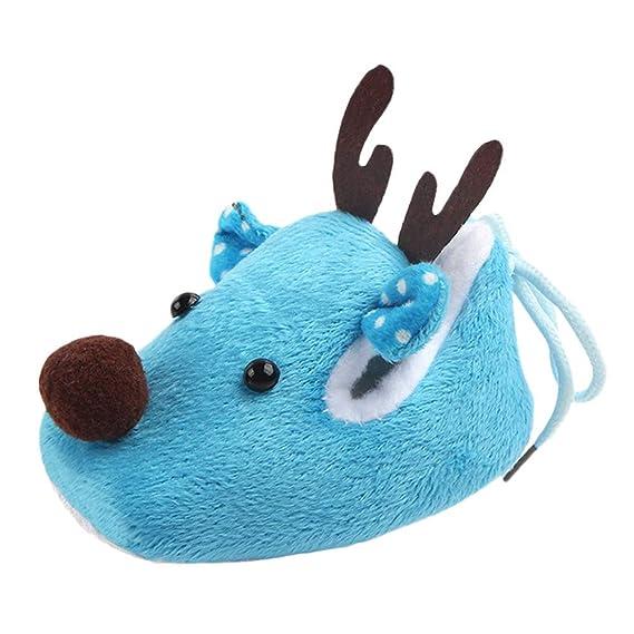 Recién Nacido bebé niño niña Navidad Cuna Zapatos Suela Suave Zapatillas Antideslizantes Botas de Navidad Zapatillas Zapatitos 0-6 Mes