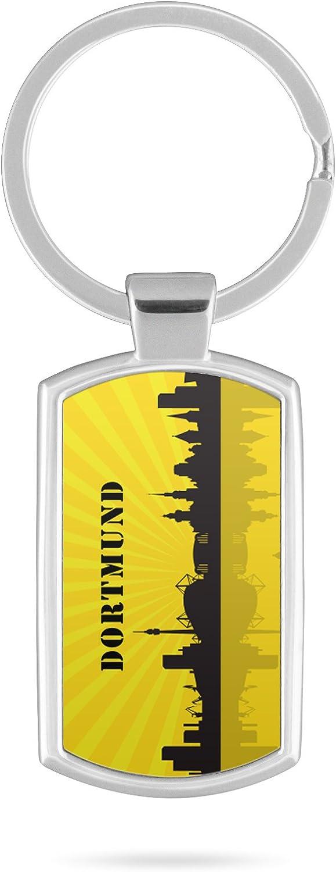 Schl/üsselanh/änger mit Gravur Wunschtext Dortmund Skyline