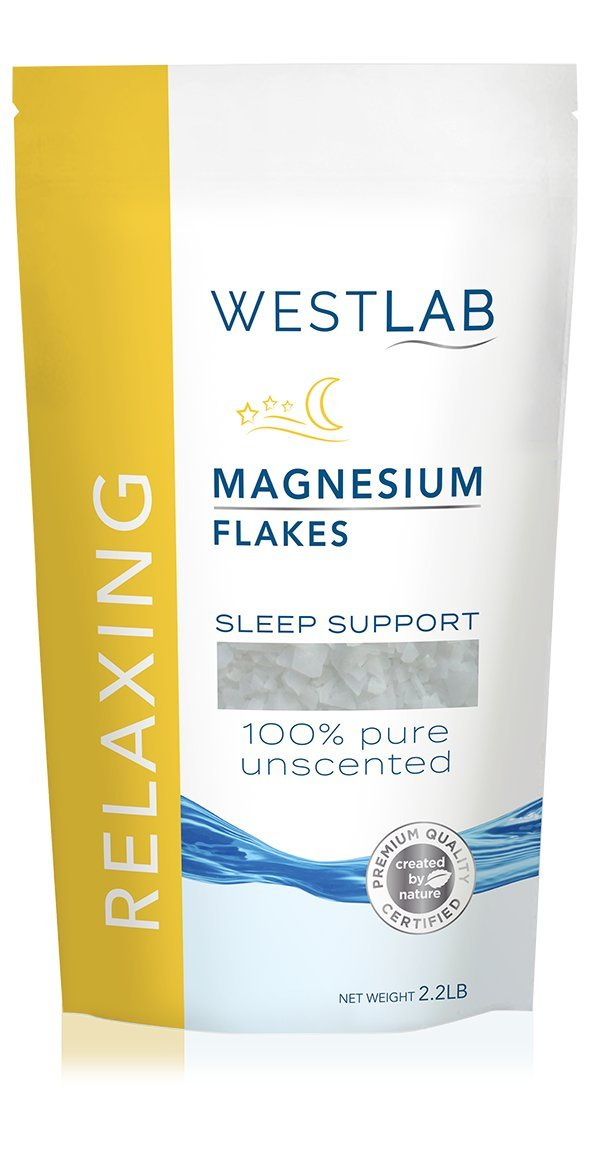 Westlab's Magnesium Flakes with Pure Zechstein Inside - 1Kg Resealable Pouch