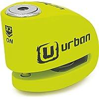 URBAN UR906Y Candado Antirrobo Moto Disco Alarma 120 dB, Eje 6 mm Universal, Amarillo
