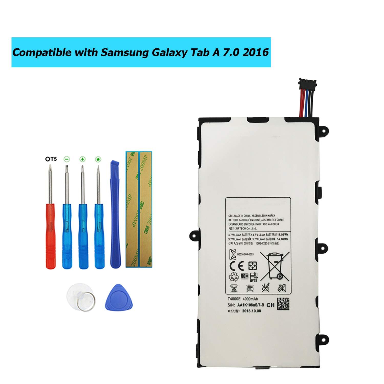 Bateria Tablet T4000E para Samsung Tab A 7.0 2016 4G LTE SM-