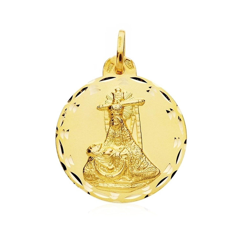 4bb7dc101b5a Durable Modelando Medalla oro 18k escapulario C. Jesús Virgen Angustias  24mm.  AB4789