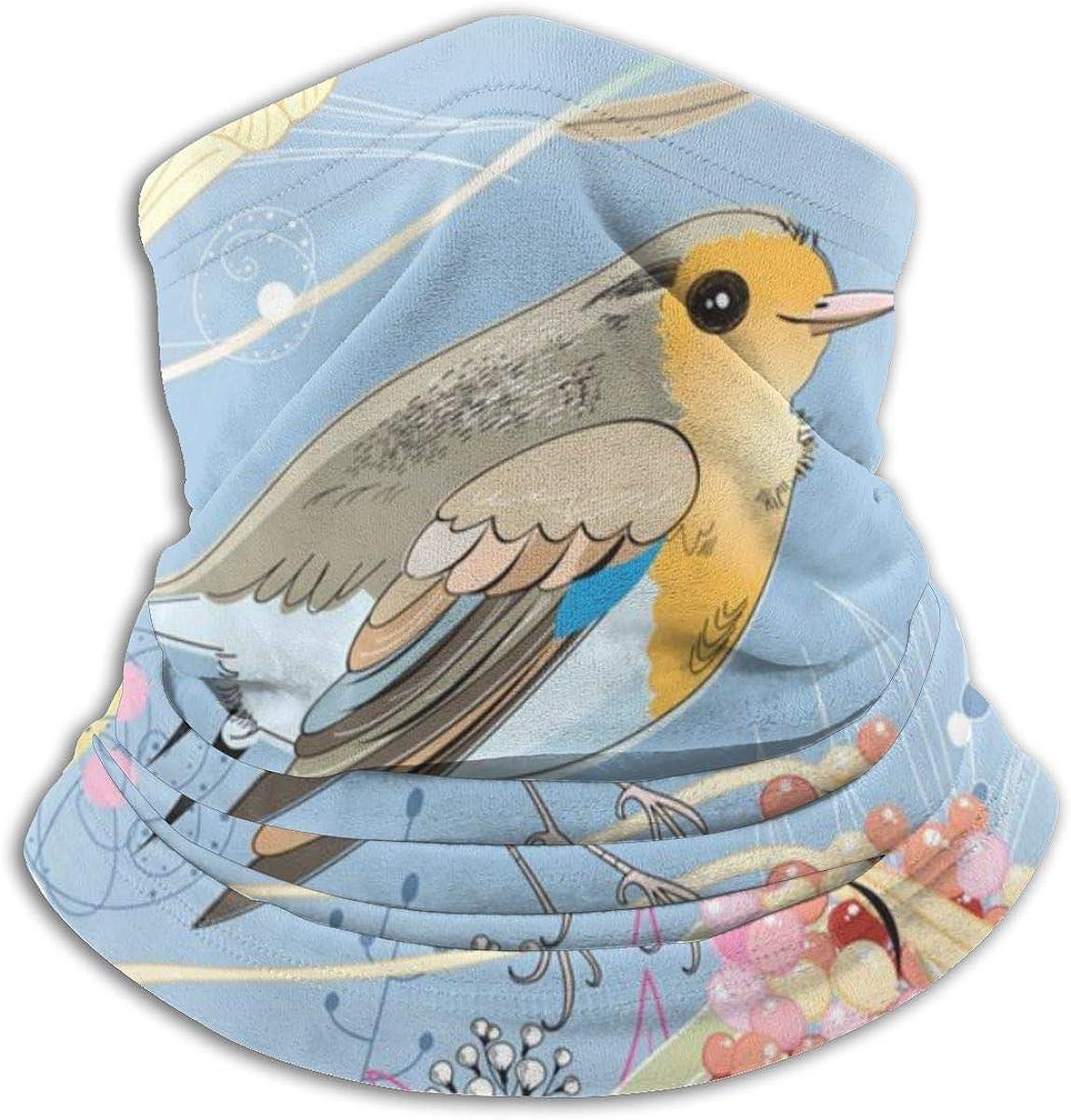 XXUU Fondo floral con un pañuelo de pájaro para Rave Dust Wind Uv Sun, polaina para el cuello Sombreros Motocicleta deportiva para mujeres Hombres Bufanda facial Negro