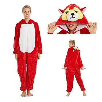 LSJSN Pijama Disfraz De Animales Adulto Chica Niños Onesie Franela ...