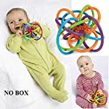Baby Rattle Hand Bell Sensory Teether Soft Activity Toy For Infant Newborn