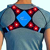 lighted vest for running - WildSaver LED & Reflective USB Rechargeable Lightweight Lycra & Mesh Vest w/2 Pockets for Night Running, Biking, Cycling, Walking. High Visibility Safety for Men, Women,Kids. (Blue medium)