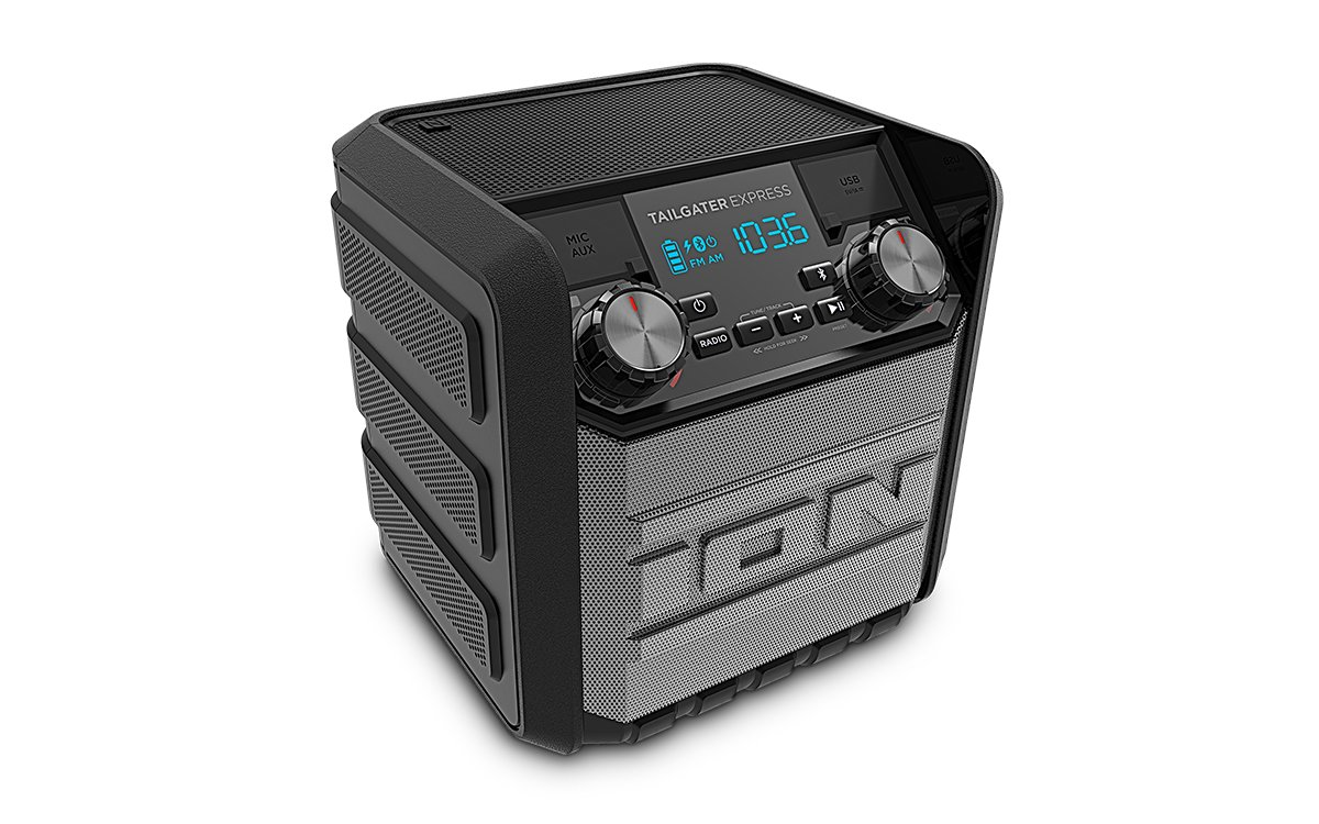 ION Audio Tailgater Express | Compact Water-Resistant Wireless Speaker System with AM/FM Radio & USB Charge Port (20W) by ION Audio