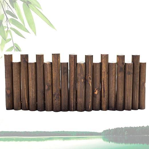 ZENGAI-vallas de Madera Patio Exterior Resistente A La Intemperie Decoración Durable Reforzarse Diseño Alto Y Bajo 150 Cm De Largo (Size : 35/40cm): Amazon.es: Jardín