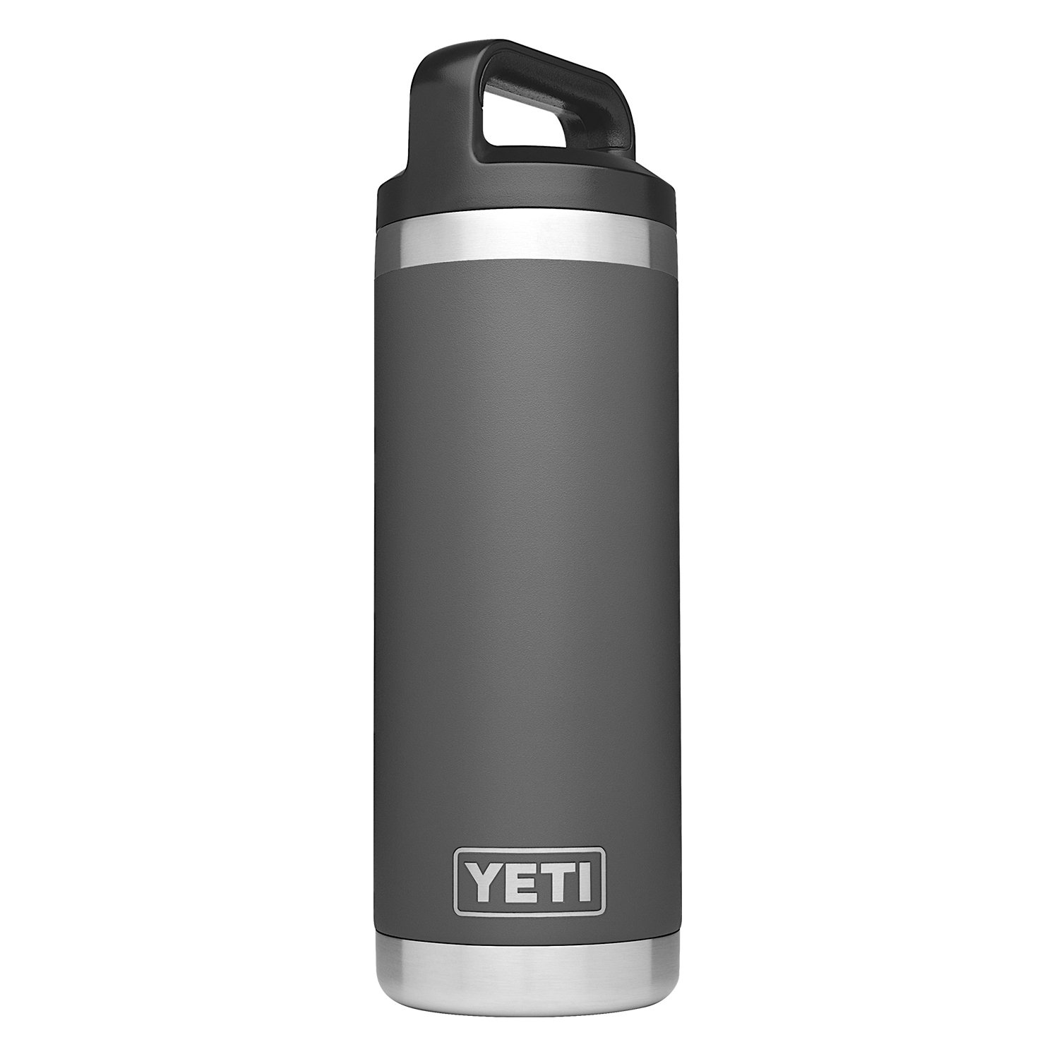 YETI Rambler 18 oz Stainless Steel Vacuum Insulated Bottle with Cap, Charcoal
