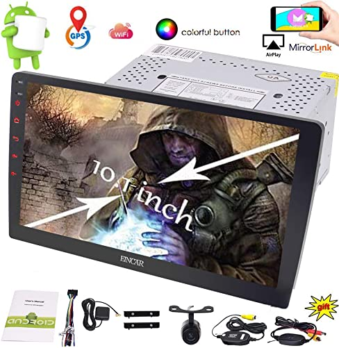 New Designed 10.1 inch HD Large Full-Touch Screen Car Stereo Android 6.0 System GPS NO DVD Player Bluetooth Radio Support SUB Video Output Mirrorlink Steering Wheel Control Wireless Backup Camera