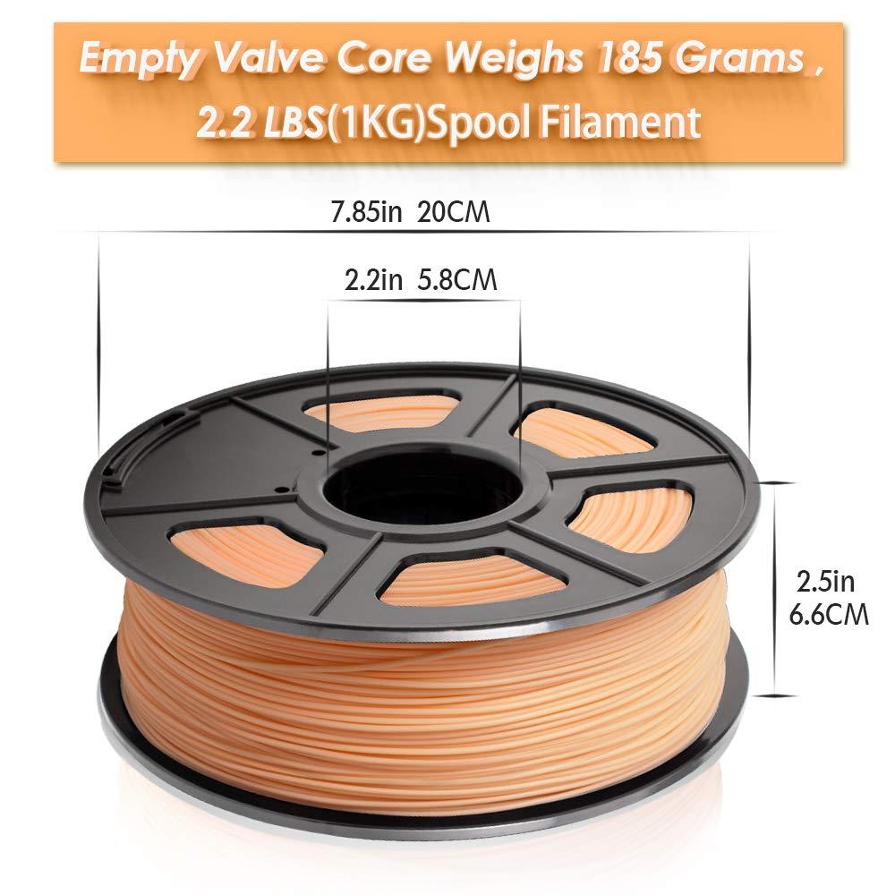 2.2 LBS 1KG Spool 3D Filament for 3D Printers /& 3D Pens 3D Printing Filament Low Odor SUNLU 3D Printer Filament PLA Transparent PLA 1.75mm PLA Filament Dimensional Accuracy +//- 0.02 mm