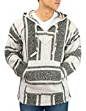 Cleverbrand Unisex Mexican Jerga Hoodie - Large, Beige