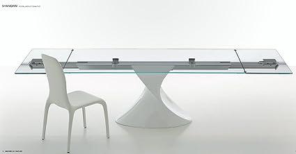 Tonin Casa Tavolo Alma struttura acciaio Grigio Carbone e piano in ...