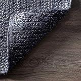 nuLOOM Rigo Hand Woven Jute Area Rug, 4' x