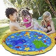 Cucudy Almofada Inflável PVC Crianças Bebê Spray de Água Jogo Pad Verão Jardim Gramado Crianças Playmat Jogo P