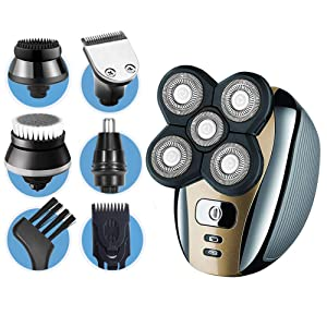 Dreamme Electric Shaver for Men 5-in-1 Grooming Kit for Men: Five-Headed Beard Electric Razors,Nose Hair Trimmer,Head Shavers for Bald Men, Cordless and Rechargeable